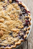Homemade Blueberry Crumble Crust Pie